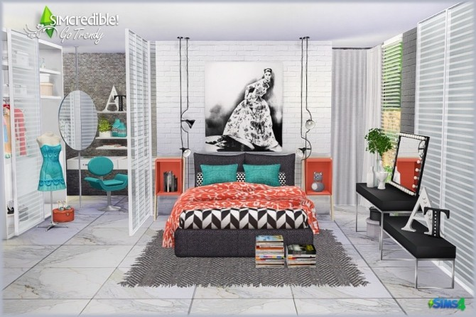 Go Trendy Bedroom Add Ons Free Pay At Simcredible Designs 4 Sims 4 Updates