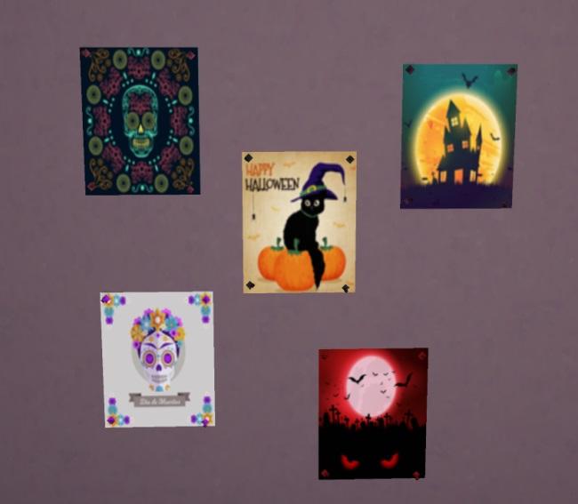 Sims 4 Halloween Poster Recolour by Avalanche at Sims Marktplatz