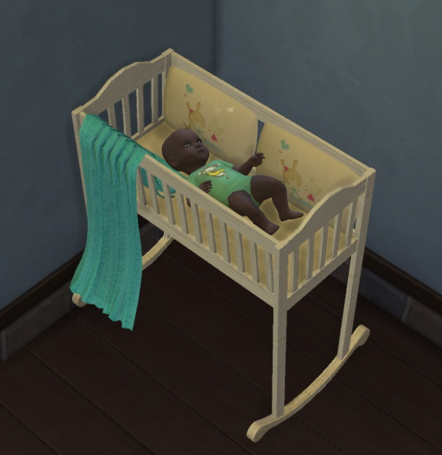 Sims 4 4 recolors of dorosimfan1s baby cradle by Avalanche at Sims Marktplatz