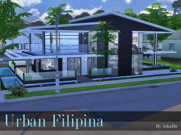 Urban Filipina house by johnDu at TSR image 1240 Sims 4 Updates