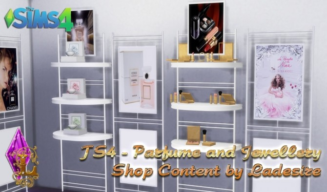 Sims 4 Parfume and Jewellery Shop Content at Ladesire