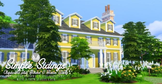 Sims 4 Simple Siding Wall Set at Simsational Designs