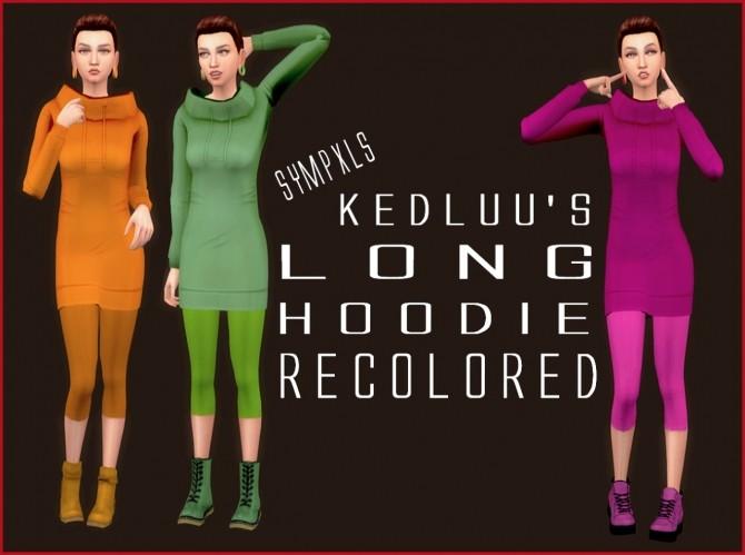 Sims 4 Kedluus Long Hoodie RC by Sympxls at SimsWorkshop