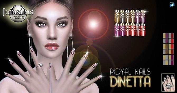 Sims 4 Dinetta royal nails at Jomsims Creations