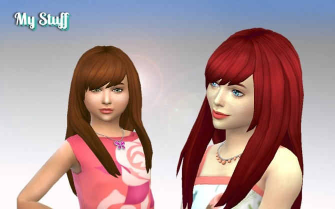 Sims 4 Helena Hair for Girls at My Stuff