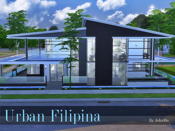 Urban Filipina house by johnDu at TSR image 1340 Sims 4 Updates