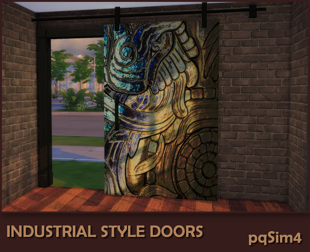 Sims 4 Industrial Style Decor Doors by Mary Jiménez at pqSims4