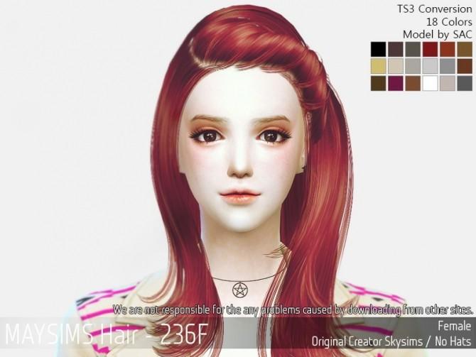 Sims 4 Hair 236F (Skysims) at May Sims