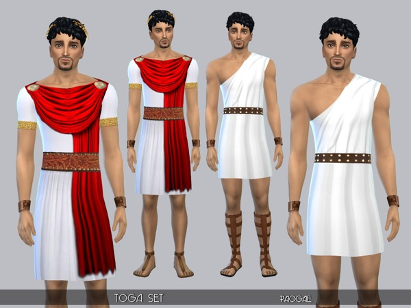Togas for ancient roman men by Paogae at TSR image 1417 Sims 4 Updates