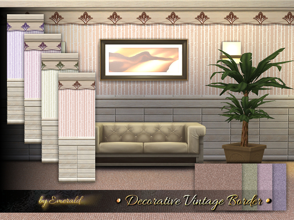 Decorative Vintage Border by emerald at TSR image 1428 Sims 4 Updates