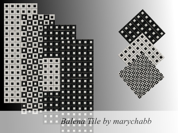 Sims 4 Balena Tile Set by marychabb at TSR