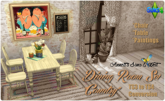 TS3 to TS4 Conversion Dining Room Set Country at Annett's Sims 4 Welt image 14314 Sims 4 Updates