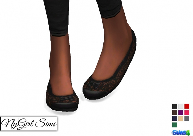 Lace And Bow Ballet Flats At Nygirl Sims 187 Sims 4 Updates