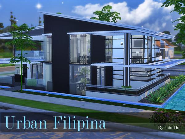 Urban Filipina house by johnDu at TSR image 1450 Sims 4 Updates
