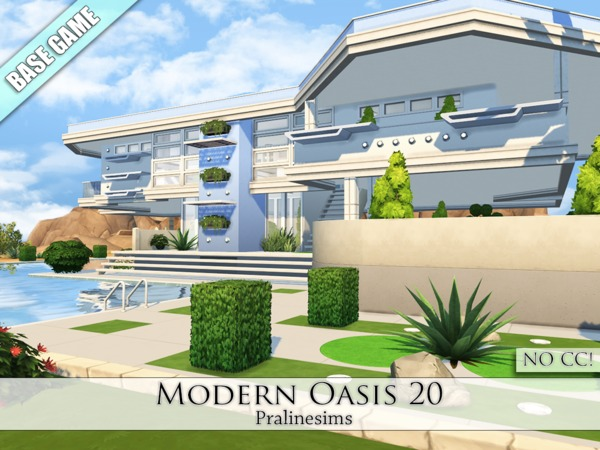 Sims 4 Modern Oasis 20 by Pralinesims at TSR
