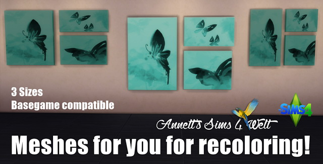 3 Picture Meshes for recoloring at Annett's Sims 4 Welt image 14711 Sims 4 Updates