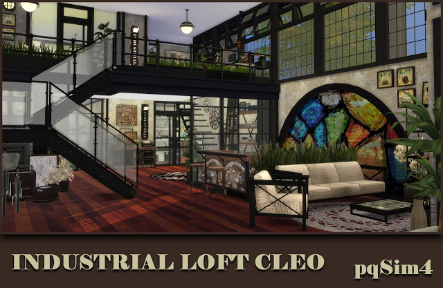 Sims 4 Cleo Industrial Loft by Mary Jiménez at pqSims4