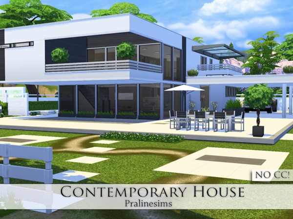 Sims 4 Contemporary House by Pralinesims at TSR