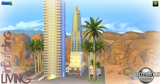 Sims 4 Semi decorative building at Jomsims Creations