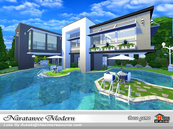 Naratawee Modern house by autaki at TSR image 15 Sims 4 Updates