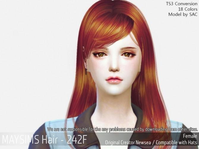 Sims 4 Hair 242F (Newsea) at May Sims