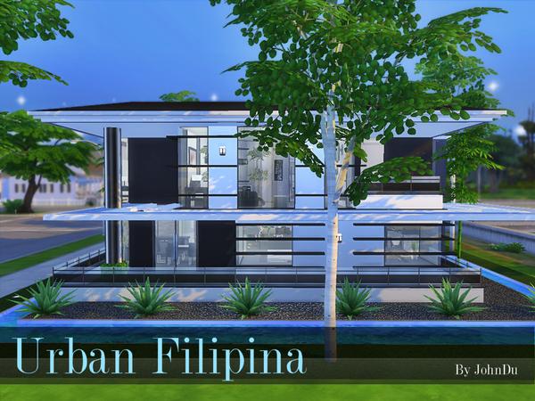 Urban Filipina house by johnDu at TSR image 1538 Sims 4 Updates