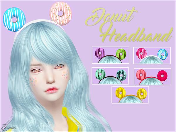 Yume Donut Headband by Zauma at TSR image 1541 Sims 4 Updates