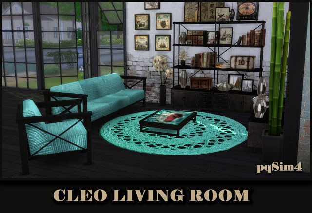 Sims 4 Cleo livingroom at pqSims4