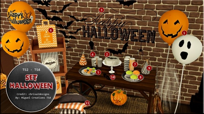 Sims 4 Set Halloween at Victor Miguel