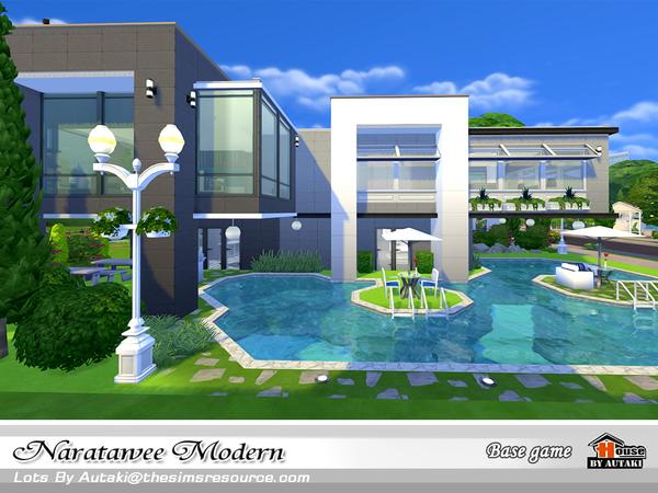 Naratawee Modern house by autaki at TSR image 16 Sims 4 Updates