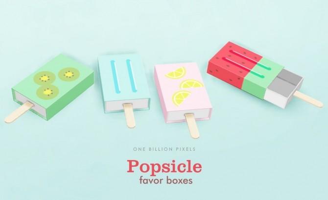 Sims 4 Popsicle Favor Boxes at One Billion Pixels