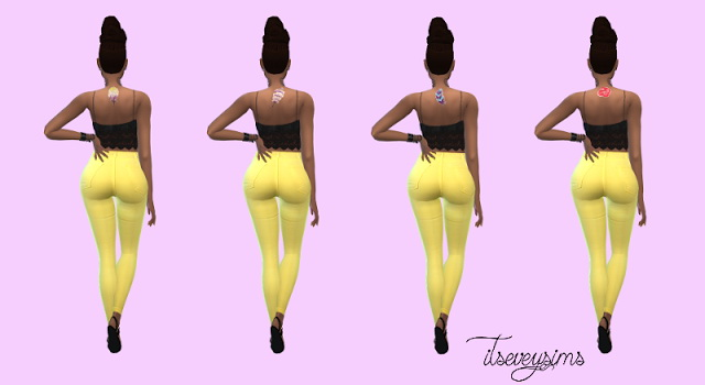 Bohemian Upper Back Tattoo at Evey Sims image 162 Sims 4 Updates