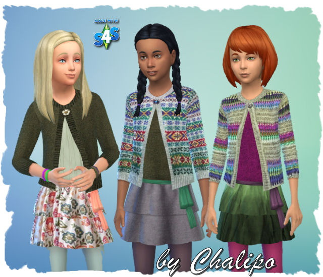 Sweater for kids by Chalipo at All 4 Sims image 1622 Sims 4 Updates