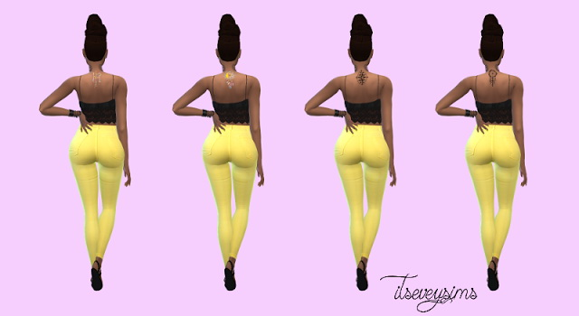 Bohemian Upper Back Tattoo at Evey Sims image 164 Sims 4 Updates