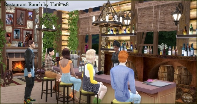 Sims 4 Ranch restaurant at Tanitas8 Sims