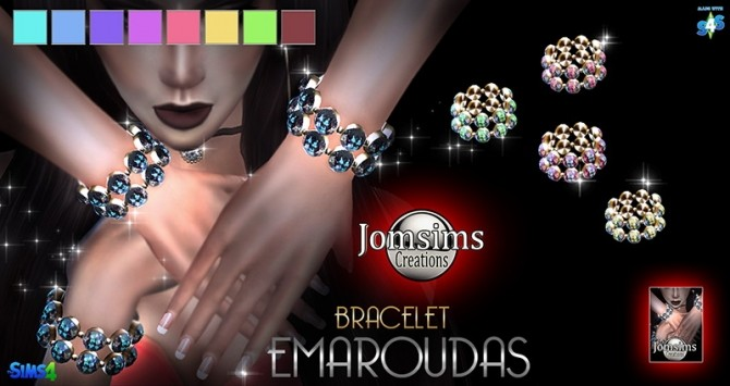 Emaroudas bracelet at Jomsims Creations image 1661 670x355 Sims 4 Updates
