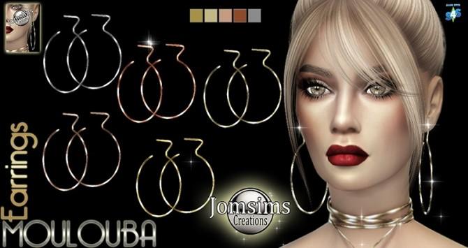 Sims 4 Moulouba Earrings at Jomsims Creations