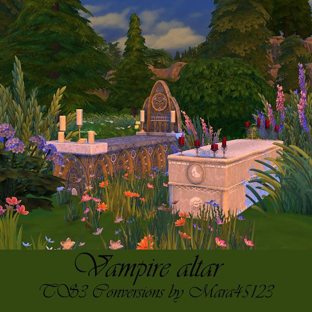 Sims 4 Vampire altar TS3 Conversions at Mara45123