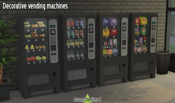 Decorative Vending Machines By Sandy At Around The Sims 4