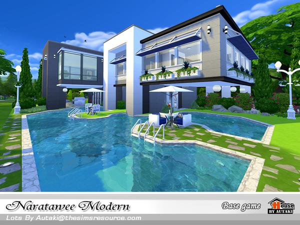 Naratawee Modern house by autaki at TSR image 17 Sims 4 Updates