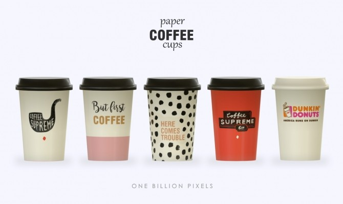 Sims 4 Paper Coffee Cups at One Billion Pixels