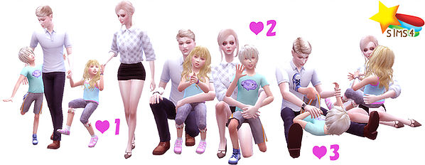 Sims 4 Family Pose 03 at Studio K Creation