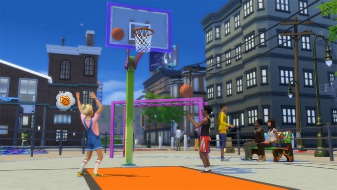 Výsledek obrázku pro the sims 4 city living basketball