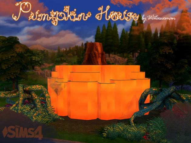 Pumpkin House by Waterwoman at Akisima image 1728 Sims 4 Updates