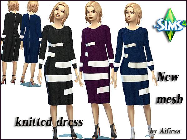 Sims 4 Knitted Dress at Lady Venera
