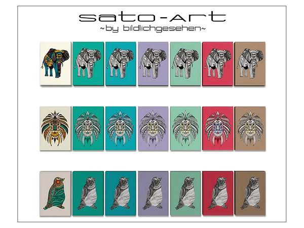 Sato Art prints by Bildlichgesehen at Akisima image 1741 Sims 4 Updates