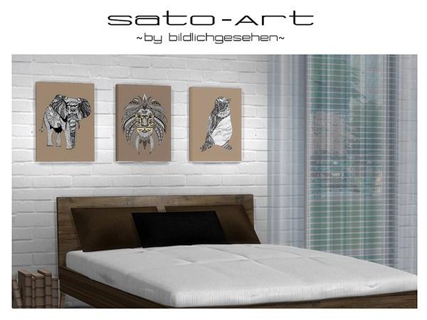 Sato Art prints by Bildlichgesehen at Akisima image 1761 Sims 4 Updates