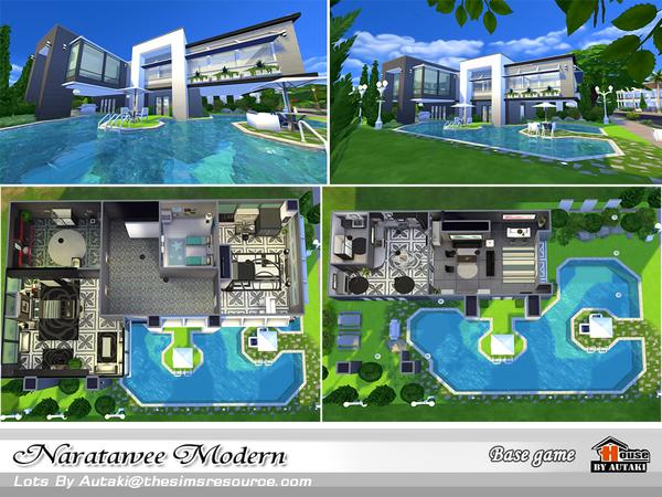 Naratawee Modern house by autaki at TSR image 18 Sims 4 Updates