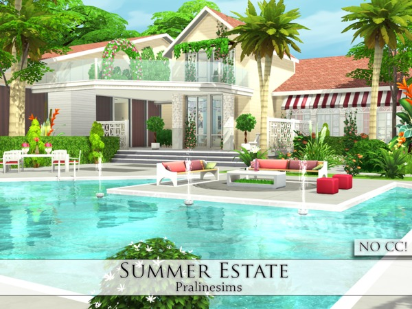 Sims 4 Summer Estate by Pralinesims at TSR