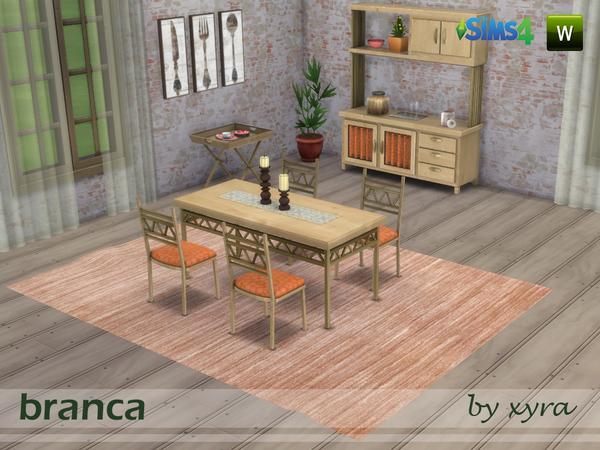 Sims 4 Branca dinning room set by xyra33 at TSR
